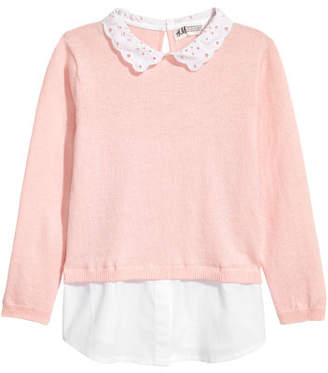 H&M Sweater with Collar - Pink