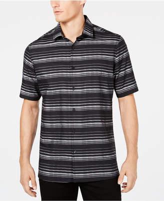 Alfani Men's Short-Sleeve Striped Shirt