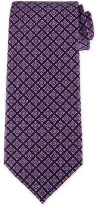 Stefano Ricci Neat Square Printed Silk Tie $250 thestylecure.com