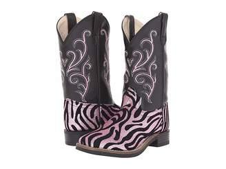 Old West Kids Boots Leatherette Western Boots (Toddler/Little Kid)