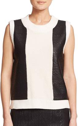 Raoul Women's Knit Cable-Panel Tank