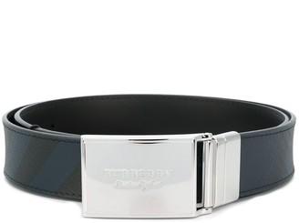 Burberry embossed buckle belt
