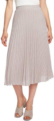 1 STATE 1.STATE Fine Puppytooth Pleated Midi Skirt
