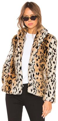 Roxy About Us Faux Fur Leopard Coat