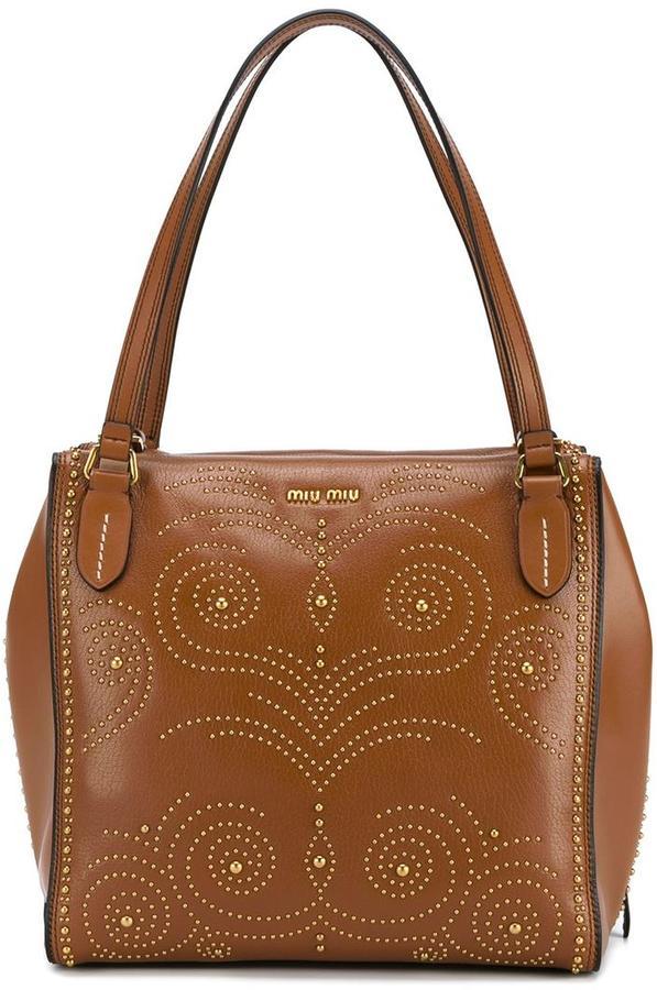 Miu MiuMiu Miu studded shoulder bag