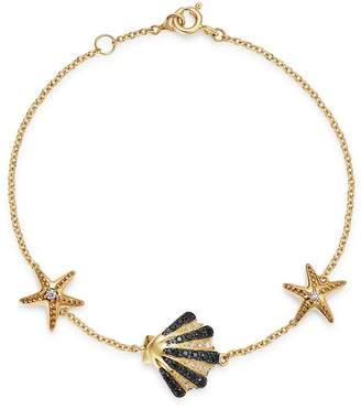 Bloomingdale's Black, Brown & White Diamond Sea-Inspired Bracelet in 14K Yellow Gold - 100% Exclusive