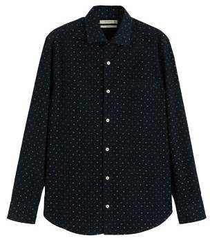Mango man MANGO MAN Flower-print corduroy slim-fit shirt