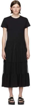 RED Valentino Black Tulle Ruffle Dress