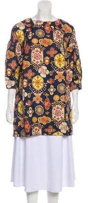 See by Chloe Printed Silk Tunic
