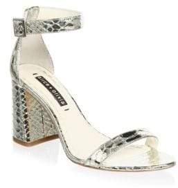 Alice + Olivia Lillian Snake Embossed Sandals