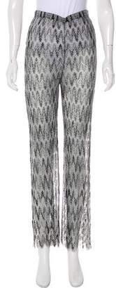 Missoni High-Rise Sheer Pants
