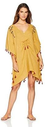 Oasis Wild Beachwear Women's Cotton Embroided Tassels Kaftan Swimsuit Beach Cover Up