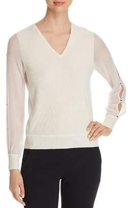 Elie Tahari Maria Slit-Sleeve Sweater