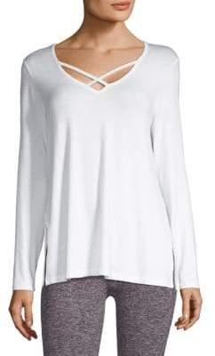 Beyond Yoga Cross Me Once Pullover
