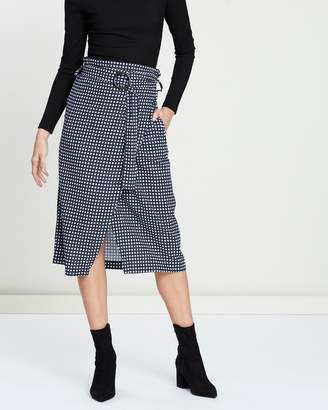 Cotton On Woven Melanie Wrap Midi Skirt