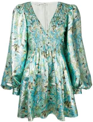 Stella McCartney floral print metallic dress