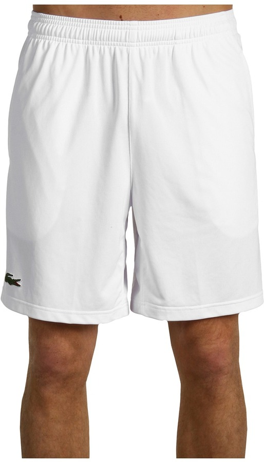 Lacoste Diamante Drawstring Short (White/White) - Apparel