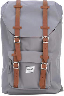 Herschel leather-trimmed canvas backpack
