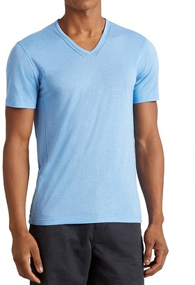 John Varvatos Star USA Pintuck V-Neck Tee $98 thestylecure.com