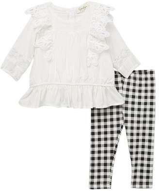 Jessica Simpson Lace Top & Leggings Set (Baby Girls)