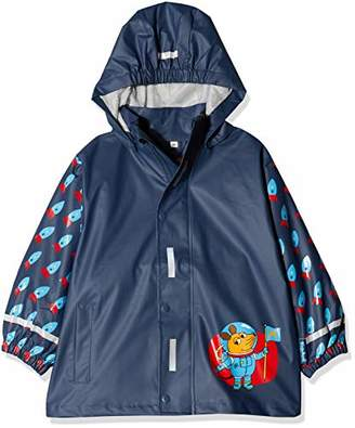 Playshoes Boy's Rain Jacket Raincoat Mouse Space
