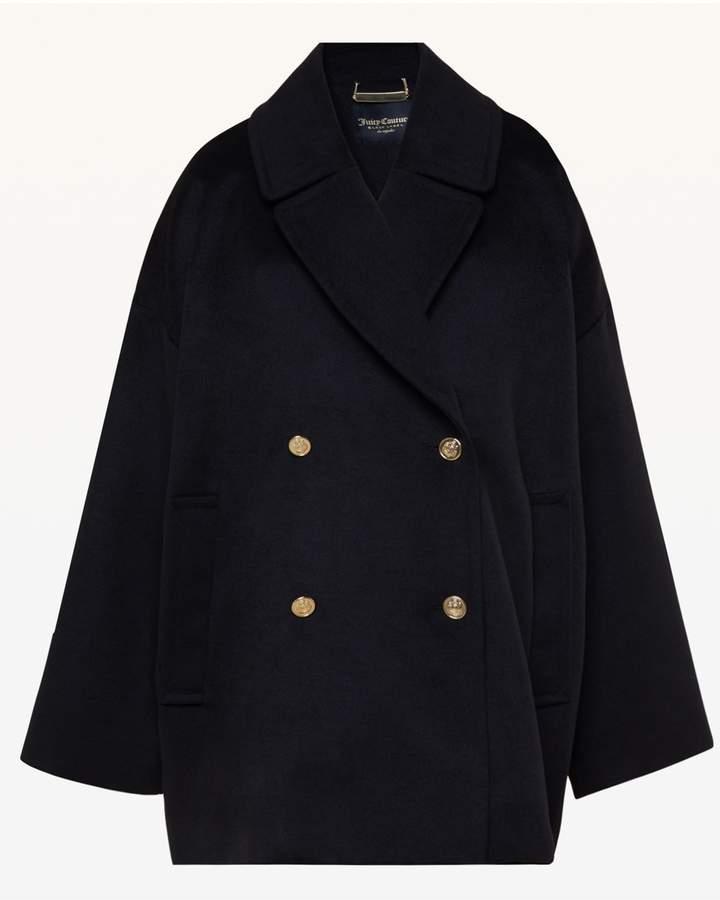Melton Cocoon Coat
