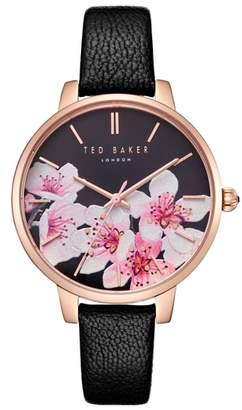 Ted Baker Kate Leather Strap Watch, 38mm