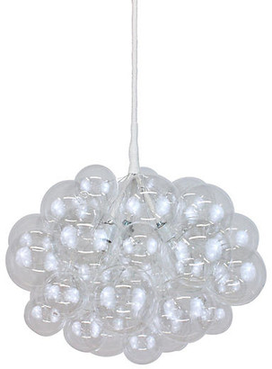 The Light Factory Bubble Large Chandelier - Clear/White