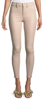 Hudson Barbara High-Rise Super-Skinny Leather Pants
