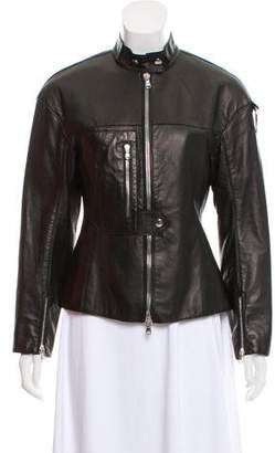 3.1 Phillip Lim Standing Collar Leather Jacket