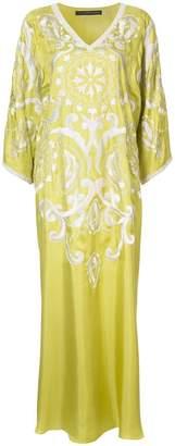 Josie Natori embroidered caftan dress