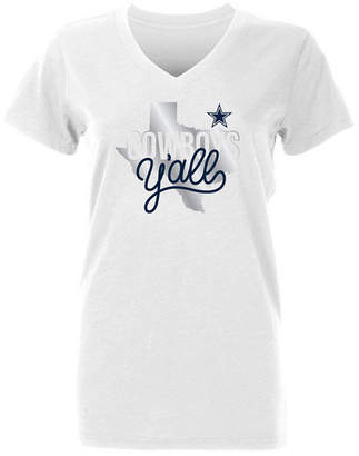 Authentic Nfl Apparel Women's Dallas Cowboys Kit State Foil T-Shirt