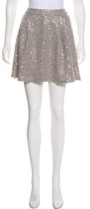 Alice + Olivia Sequin Mini Skirt