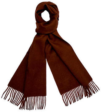 A & R Cashmere A&R Cashmere Alpaca Wool Solid Scarf - Chocolate - a&R Cashmere