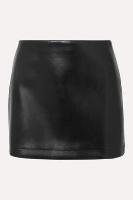 Philosophy di Lorenzo Serafini Faux Leather Mini Skirt - Black