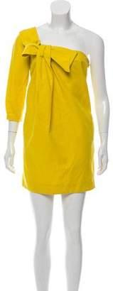 See by Chloe One-Shoulder Linen-Blend Dress