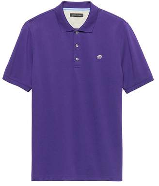 Banana Republic Solid Pique Polo
