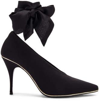 Zimmermann Ankle Tie Lycra Heel in Black | FWRD