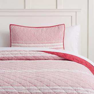 Pottery Barn Teen Windward Stripe Quilt, Twin/Twin XL, Red