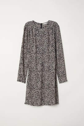 H&M Creped Dress - Beige