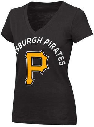 G-iii Sports Women's Pittsburgh Pirates Classic Logo V-Neck T-Shirt