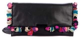 Loeffler Randall Leather Pom-Pom Crossbody Bag