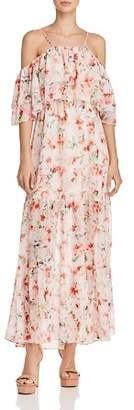 BB Dakota Tae Tiered Floral Print Maxi Dress