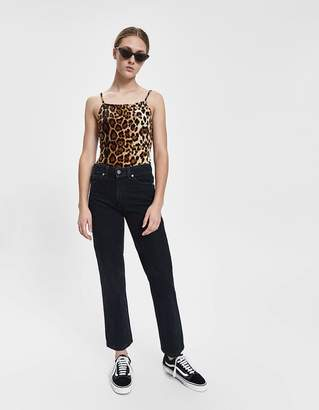 Zooey Stelen Velvet Leopard Bodysuit