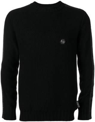 Philipp Plein logo fitted sweater