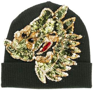 P.A.R.O.S.H. sequin embroidered knitted beanie