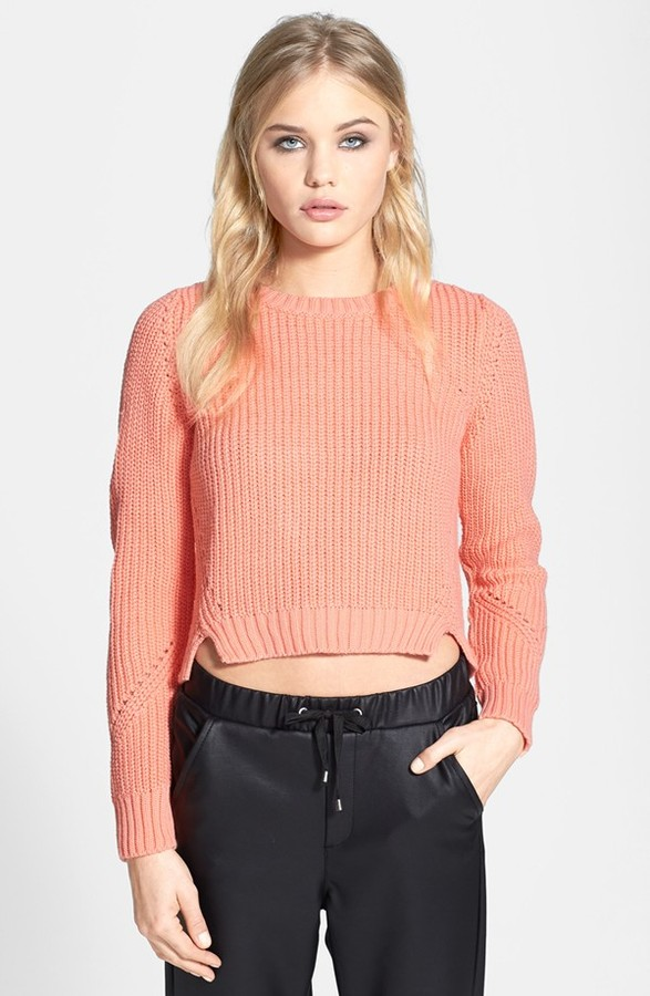 Topshop Ribbed Crop Sweater
