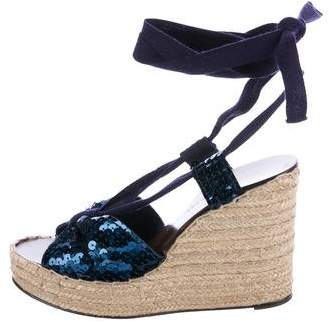 Marc by Marc Jacobs Sequined Wrap-Around Wedges