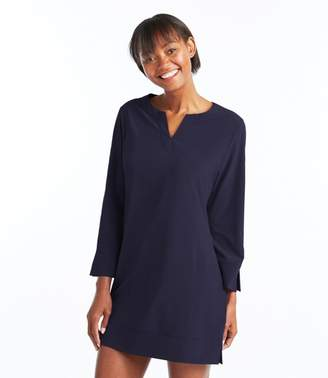 L.L. Bean L.L.Bean Stretch Swim Cover-Up, Splitneck Tunic