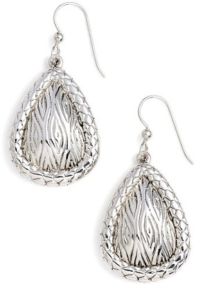 Women's Simon Sebbag Leaf Pattern Teardrop Earrings $118 thestylecure.com
